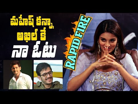 Xxx Mp4 Rapid Fire Nidhhi Agerwal On Why She Picks Akhil Over Mahesh Babu Dating An Actor Her Favourites 3gp Sex