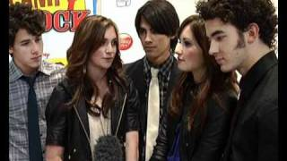 The Jonas Brothers, Demi Lovato and Alyson Stoner interview at Camp Rock premiere
