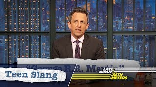 Seth Explains Teen Slang: George R.R. Martin, Stoned Henge