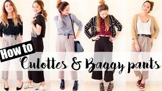 IDEAS combinar pantalones CULOTTES + BAGGY | JustCoco