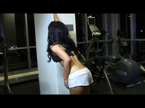 SEXY HOT Fitness models Stretches teaching workouts