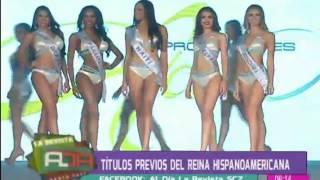 Entregaron títulos previos del Reina Hispanoamericana