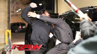 Roman Reigns halts The Authority's escape: Raw, March 21, 2016