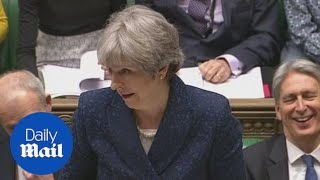Jeremy Corbyn and Theresa May clash at PMQs over Saudi visit - Daily Mail