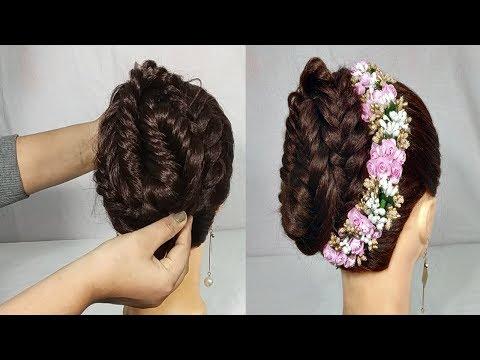 Xxx Mp4 Simple Gajra Hairstyle For Wedding Party Bridal Gajra Hairstyle Hair Style Girl Hairstyles 3gp Sex