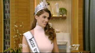 Interview Live With Kelly - Miss Universe 2016 Iris Mittenaere