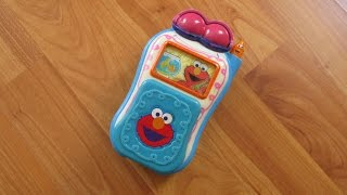 Sesame Street Elmo's World Talking Flip Cell Phone Great Activity Toy