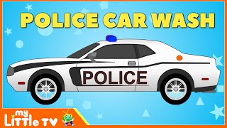 Police Car Wash | Police Chase | Videos for Children | My Little TV