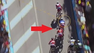 Sagan vs Cavendish crash analysis compared to Demare Tour de France 2017 4 stage