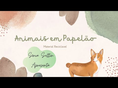 Como fazer animais de papelão Reciclagem