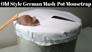 Old Style German Mash-Pot Mousetrap - Catch Mice With Paper