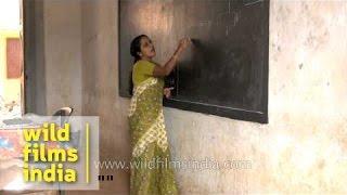 Mathematics class in Kerala higher secondary school