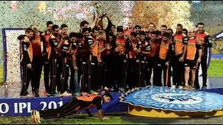 Winning and celebration movement of SRH ,   IPL 2016 RCB VS SRH