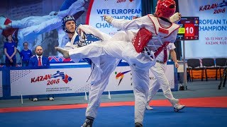 Maksim Khramtcov (RUS) vs Aaron Cook (MDA). European Taekwondo Championships Kazan-2018