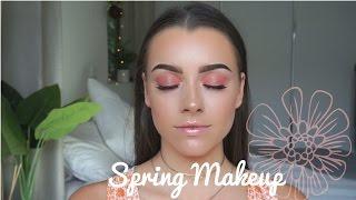 Peachy Spring Makeup Look   Maddie Edwards