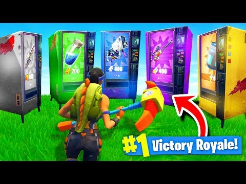 Using ONLY VENDING MACHINES To WIN Fortnite Battle Royale Challenge