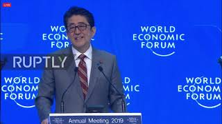 Switzerland: Abe calls on nations to
