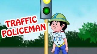 Traffic Policeman | Animated Nursery Rhyme in English Language