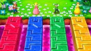 Mario Party Series - Minigames - Mario vs Luigi vs Peach vs Daisy