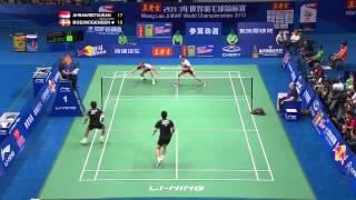 Finals   MD   M Boe C Mogensen vs M Ahsan H Setiawan   2013 BWF World Championships 720p)
