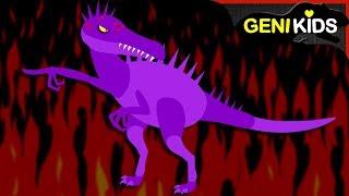 ▶Genikids Dino Movie◀ #18 DINOSAURS on Fire | Dinosaurs Short Cartoon for Kids