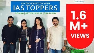 Roman Saini in Conversation with IAS Toppers 2016: Artika Shukla, Shashank Tripathi, Gazal Bhardwaj