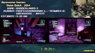 Borderlands 2 :: Speed Run in 2:39:37 (Co-op) #AGDQ 2014