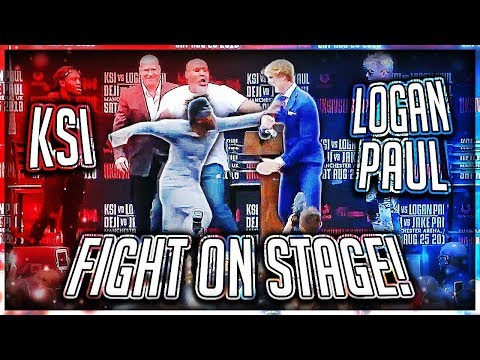 KSI PUNCHED LOGAN PAUL AT PRESS CONFERENCE (Highlights)