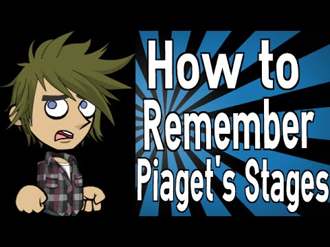 How to Remember Piaget's Stages