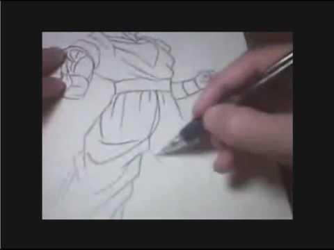dibujando a goku fase 3