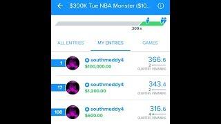 BIGGEST WIN EVER!! $100,000 TAKE DOWN! NBA: Fanduel Picks 12/13/17