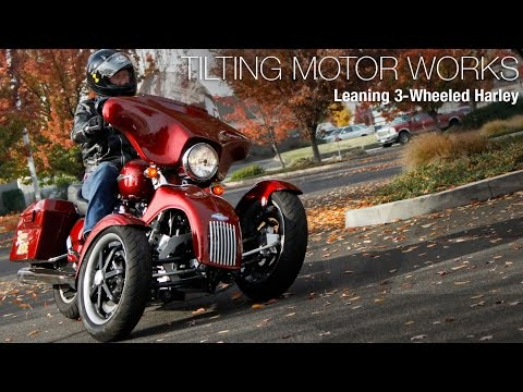 Tilting Motor Works Leaning 3 Wheeled Harley MotoUSA