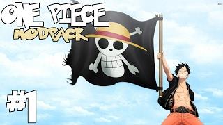 THE ADVENTURE BEGINS!  || One Piece Modpack Episode 1 (Minecraft One Piece Survival)