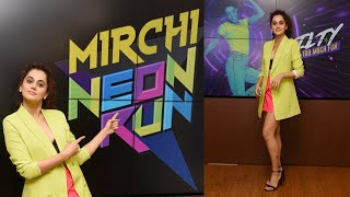Beautiful Taapsee Pannu @ the 5th Edition Of Mirchi Neon Run Announcement