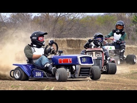 Lawnmower Racing Battle | Dude Perfect