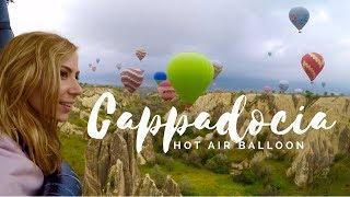 Hot Air Balloon Flight over Cappadocia Turkey GOPRO HERO4 HD; Fairy Chimneys, Red Valley