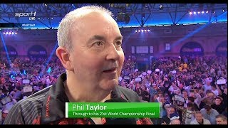 Phil Taylor Interview [SF] 2018 World Championship Darts