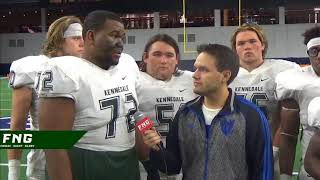 Kennedale OT Isaiah Butler and RB Jaden Knowles