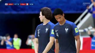 PS4 FIFA 18 Gameplay Uruguay vs France [HD]