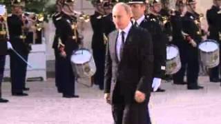 Jun 1, 2012 France_President Putin arrives in Paris