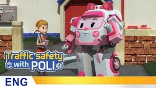 Trafficsafety with Poli | #17.Don't look elsewhere when you walk
