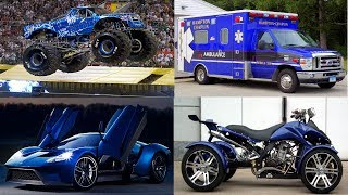Blue Transport and Vehicles Learn Transport Cars and Trucks for Kids Children Toddlers