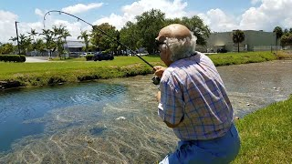 Gramps Catches HUGE FISH!
