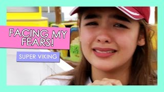 Facing My Fears! Super Viking at Sky Ranch | Andrea B.
