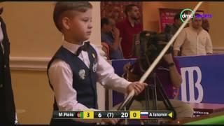 الشوط الرابع  من مباراة بطولة العالم للسنوكر بين الأفعانستاني محمد رئيس والإسنرالي أرتيم أستومين