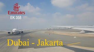 Emirates Airlines EK 358 Dubai - Jakarta   Boeing 777-300 Economy Class Flight Experience