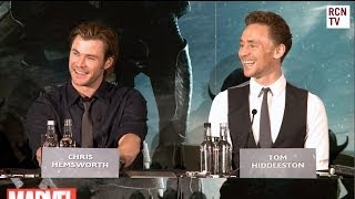 Kid in Thor Costume asks Chris Hemsworth & Tom Hiddleston If They're Really Brothers