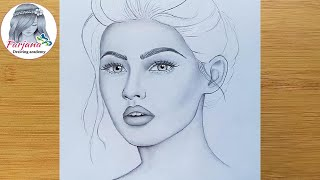 How to shading and blending a face with pencil for beginners
