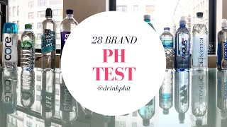 Alkaline or Acidic? 28 Bottled Water pH Test. Don