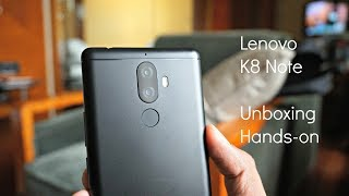 Lenovo K8 Note Unboxing, Hands on, Camera Features